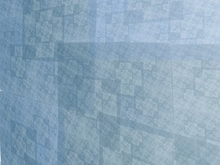 Abstract blue square fractal perspective mosaic