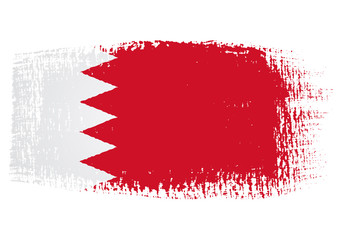 brushstroke flag Bahrain with transparent background
