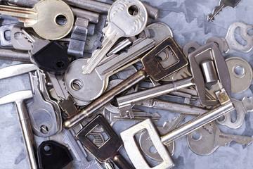 Verschiedene Schlüssel farbig