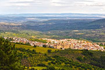 Vista panorámica de Guadalupe, Cáceres, España