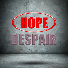 HOPE DESPAIR concrete wall
