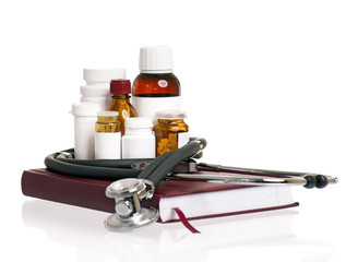 Book with medicaments