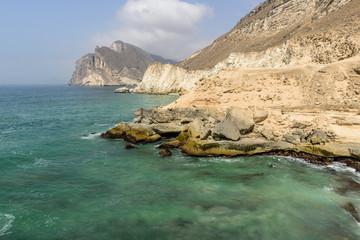 Cliffs near al-Mughsayl (Oman)
