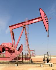 Pumpjacks on the oil field of Amal (Oman)