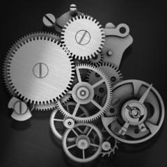 Stylized metal gears