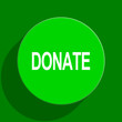 donate green flat icon