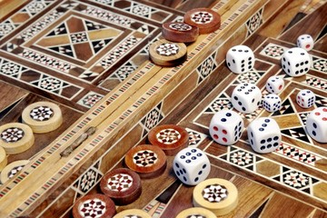 Backgammon game board with  many dice roller, XXXL