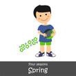Obrazy na płótnie, fototapety, zdjęcia, fotoobrazy drukowane : Four Seasons_Spring Boy
