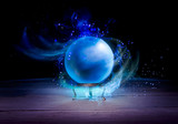 Fortune teller's Crystal Ball with dramatic lighting