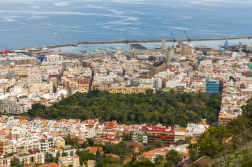 Aerial view of Santa Cruz de Tenerife. Spain