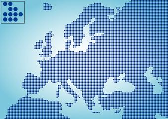 Avrupa haritası  ( renkli noktalı )