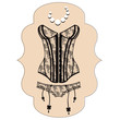 Lady's sexy guipure corset - 64554450