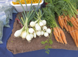 Onions and Carrots at famers market