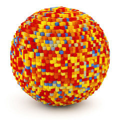 Sphere of cubes