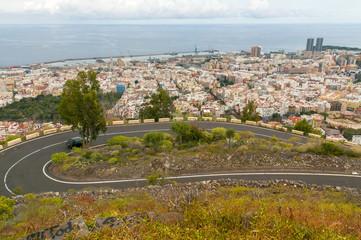Aerial view of Santa Cruz de Tenerife. Spain