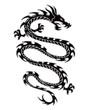 Tribal dragon tattoo - 64554874