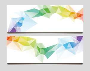 Abstract set wave triangle background