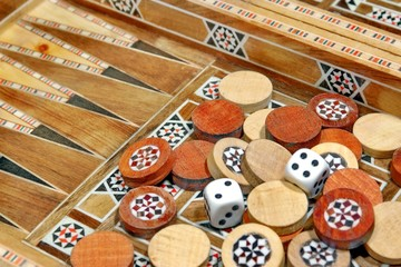 Not apart chips and backgammon game board, XXXL