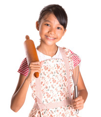 Young Girl With Rolling Pin