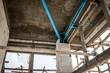 Unfinished sanitation construction