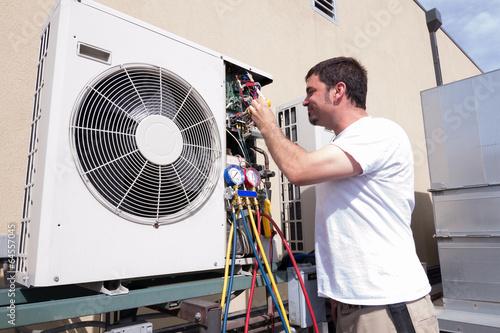Deurstickers HVAC Technician