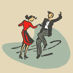 couple dancing rock'n'roll