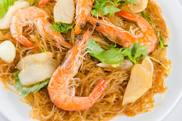 Shrimp vermicelli Thai food