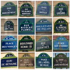 composition plaques de rues parisienne 4ièm arrondissement