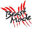 Постер, плакат: Beast Mode Krallen Wunde