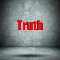 Truth concrete wall