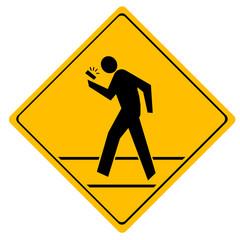 Road sign crosswalk.