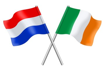 Flags : The Netherlands and Ireland