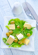 salad with camembert