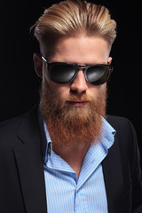 portrait of a bearded business man