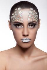 Woman with art fashion make up