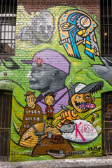detail of graffiti in Hosier Lane, Melbourne