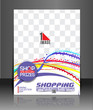 Vector Shopping Flyer Magazine Cover & Poster Template.