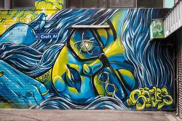 Graffiti in Croft Alley, Melbourne