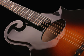 Mandolin isolated on black background