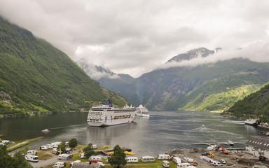 Geiranger, Geirangerfjord, Dorf, Sommerferien, Norwegen