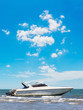 Motorboat park at blue beach - 64561673