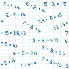nahtloses Mathematik Hausaufgaben Muster