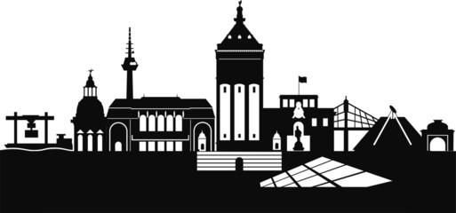 Mannheim Deutschland Silhouette