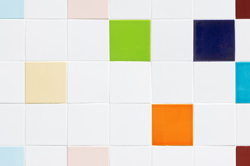 mosaic tile texture with vivid colors