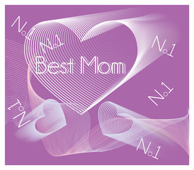 Hearts No1 Mom