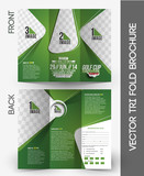 Fototapety Golf Tournament Tri-Fold Brochure Design