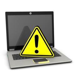 Warning Triangle Laptop