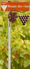 panneau route des vins de Provence