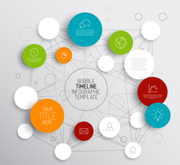 Light Vector abstract circles infographic template