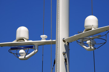 Radar and Communication Tower on a Yacht